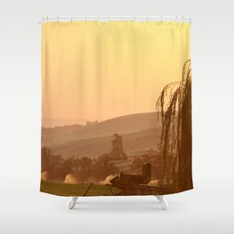 SUNSET OVER EASTERN OREGON Shower Curtain