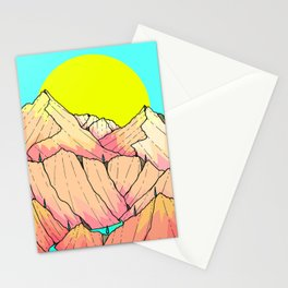 Summer river hills Stationery Cards