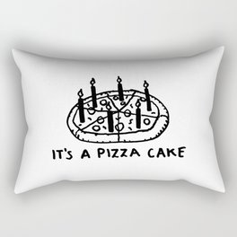 It's a Pizza Cake - Pepperoni Pizza lovers birthday dream desert with candles Rectangular Pillow