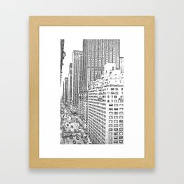 Looking Down Avenue of The Americas Framed Art Print