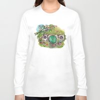 the hobbit Long Sleeve T-shirts featuring Hobbit hole by Kris-Tea Books