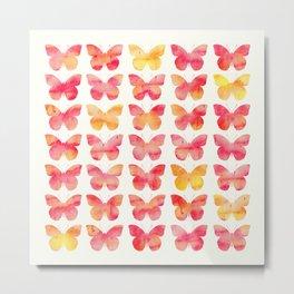Butterflies Watercolor 1 Metal Print