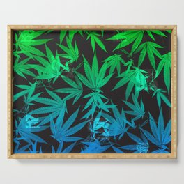 Leafy Blues Royal Stain Serving Tray