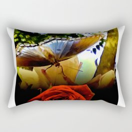 The Butterfly And The Rose Framed Rectangular Pillow
