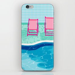 Vay-K - abstract memphis throwback poolside swim team palm springs vacation socal pool hang iPhone Skin