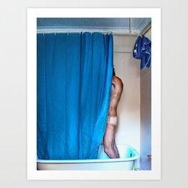 Blue Shower Art Print