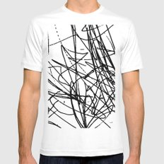 Daisy Scribble Mens Fitted Tee MEDIUM White