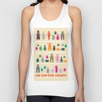 robots Tank Tops featuring Robots by ALL TYPE _ Marcio Pontes