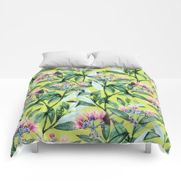 Floral Cure #society6 #decor #buyart Comforters