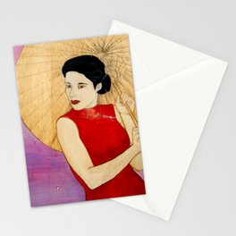 Umbrella Girl Stationery Cards