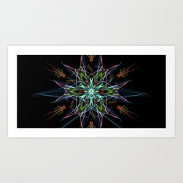 Electric Star Art Print