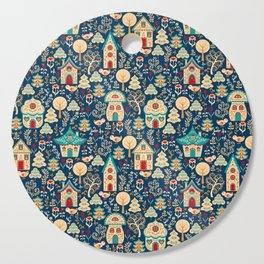 Fabulous Houses in a Magical Forest. Cutting Board