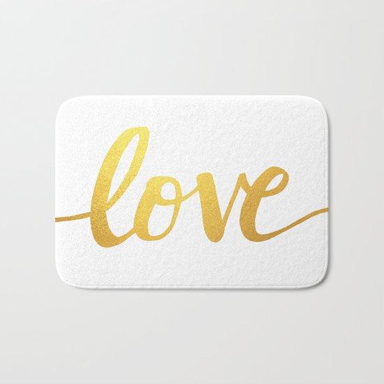 Love Gold Bath Mat