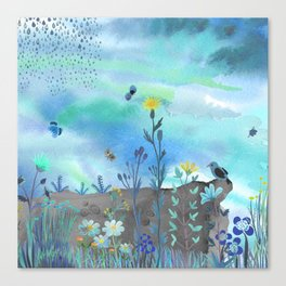 Blue Garden I Canvas Print