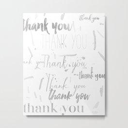 Thank you silver Metal Print