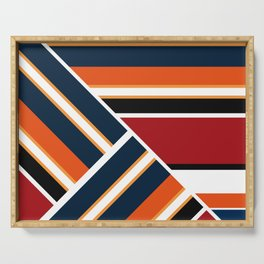Retro . Combined stripes . Serving Tray