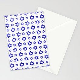 star of david 41 - blue Stationery Cards