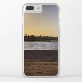 Orange. Clear iPhone Case