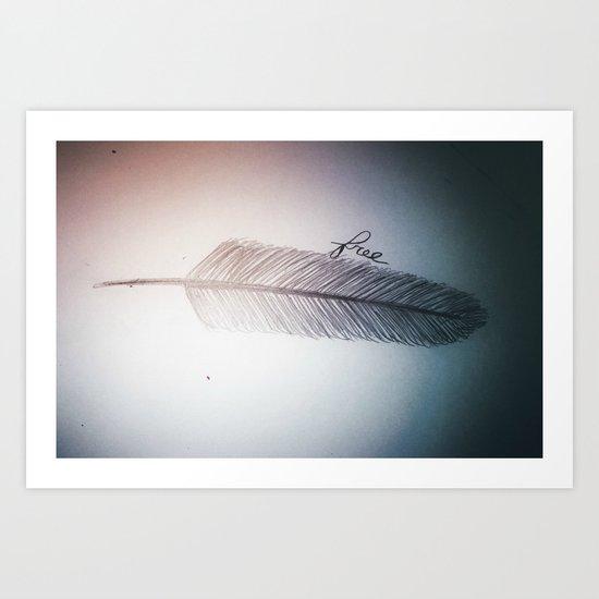 Free (design 2) Art Print