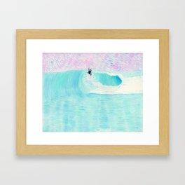 SURF AERIAL no. 1   WATER COLOR Framed Art Print