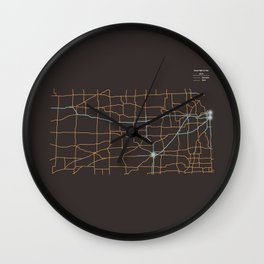 Kansas Highways Wall Clock