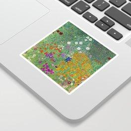 Gustav Klimt Flower Garden Floral Art Nouveau Sticker