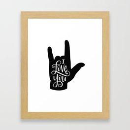 I Love You, Sign Language Framed Art Print