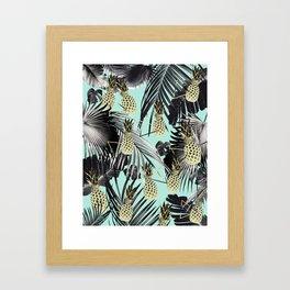 Tropical Pineapple Jungle Geo #5 #tropical #summer #decor #art #society6 Framed Art Print