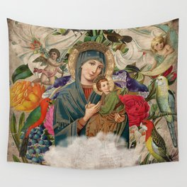 Saints Collection -- Madonna And Child Wall Tapestry
