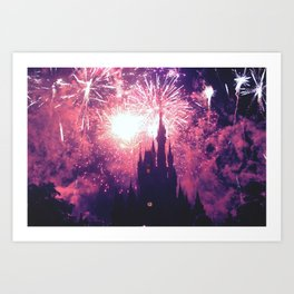 Dreaming world Disneyland Art Print