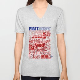 The First Amendment Unisex V-Neck