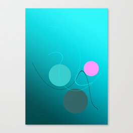 The 3 dots, power game 4 Canvas Print