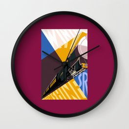 Travel South for Winter Sunshine Wall Clock
