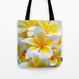 Frangipani halo of flowers Tote Bag