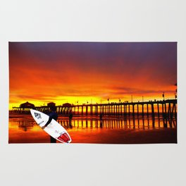 Surfer's Sunset * Huntington Beach, California Rug