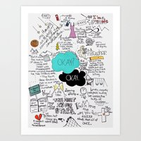 john green Art Prints featuring The Fault in Our Stars- John Green by Natasha Ramon