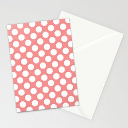 Baby Pink Octagon Pattern  Stationery Cards