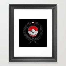 PokéTrainer Framed Art Print
