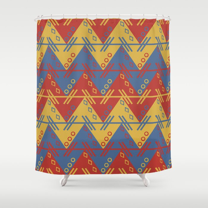 Aztec Shower Curtain By Knm