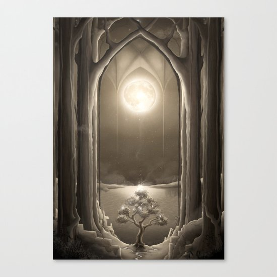 Temple of the Night Canvas Print