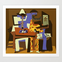 Picasso - The Musician Art Print