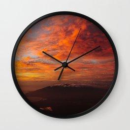 Haleakala's Colorful Sunset Wall Clock