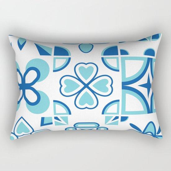 Azulejos blue Rectangular Pillow