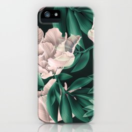 Blooming pink large flowers iPhone Case