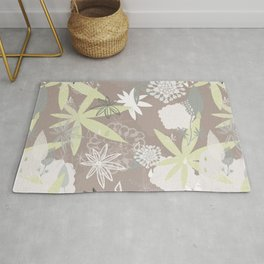 Lovely Lupins Seamless Repeating Pattern Rug