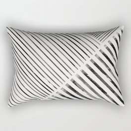 Black and White Stripes, Abstract Rectangular Pillow