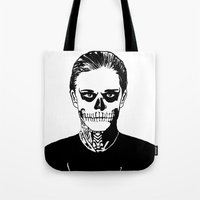 kris tate Tote Bags featuring Tate  by Kramcox