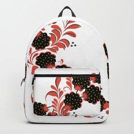 Black berry khokhloma Backpack