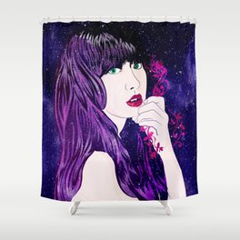 Night Blossom Shower Curtain