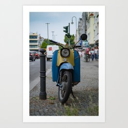vintage motorbike Art Print